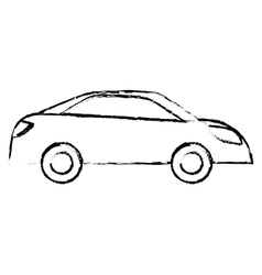 Profile car city scene image design vector