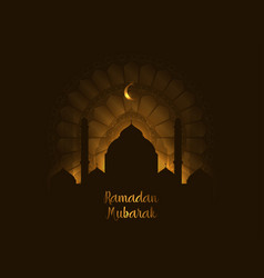 Ramadan kareem background greeting image vector