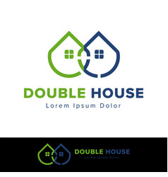 Real estate house logo design template vector