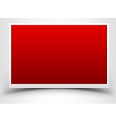 Red card with shadow vector image