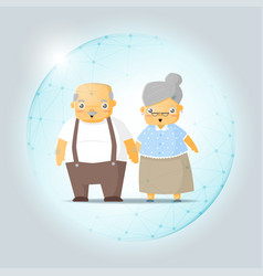 Retirement concept with happy elderly couple vector