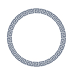 Round decorative frame for design in greek style vector