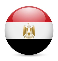 Round glossy icon of egypt vector