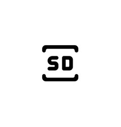 sd card icon symbol sign vector image
