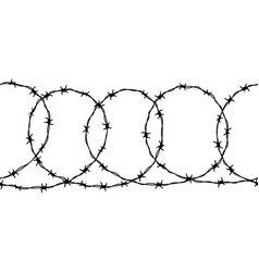 seamless border detailed black ravel barbed vector image