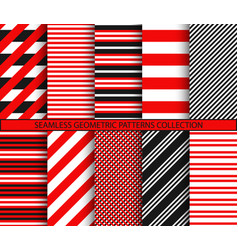 seamless geometric patterns collection vector image