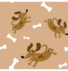 Seamless with the dogs vector image