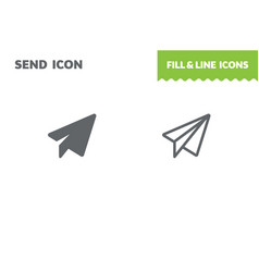 send icon paper airplane vector image