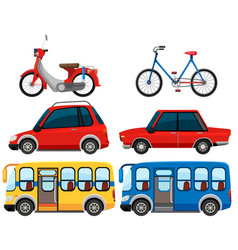 set of different vehicle vector image
