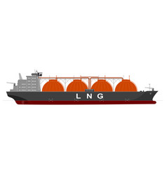 Silhouette of a huge ocean tanker for liquefied vector