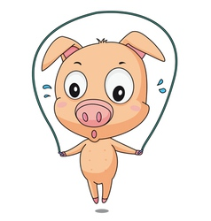 Skipping pig vector image