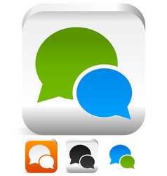 Speech bubbles talk bubbles speak bubbles icons vector