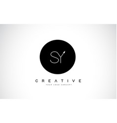 Sy s y logo design with black and white creative vector