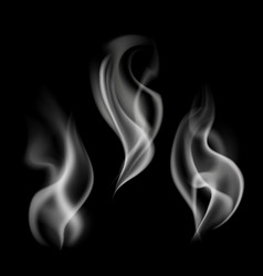 texture steam fog or smog flames realistic vector image