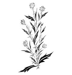 Thistle tattoo design vector
