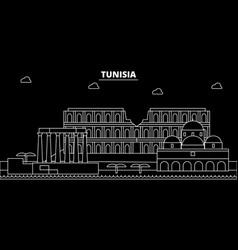 Tunisia silhouette skyline city tunisian vector