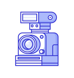 vintage old camera with flash vector image