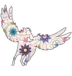 Vintage Pegasus vector