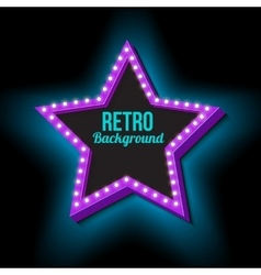 Vintage retro star with lights vector image