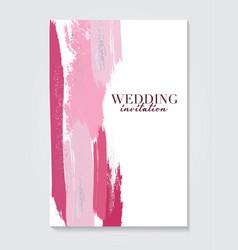 wedding grunge pink decoration vcetor fluid art vector image