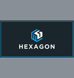Wg hexagon logo design inspiration vector