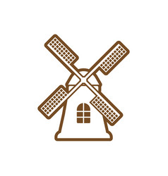 windmill icon design template isolated vector image