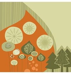 Winter Retro Background vector image