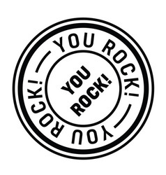 You rock stamp on white vector