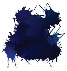 blue blots vector image