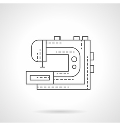 Electric sewing machine flat thin line icon vector