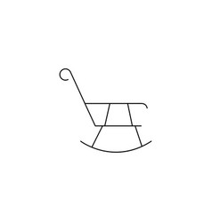 rocking chair icon concept for design vector image