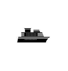 ship and cruise solid icon navigation vector image vector image