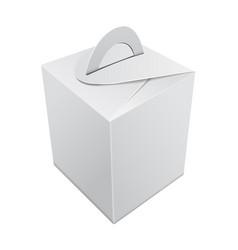 blank kraft paper gift box mockup white vector image