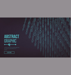 composed of particles abstract graphic design vector image vector image