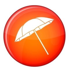 Umbrella icon flat style vector image vector image