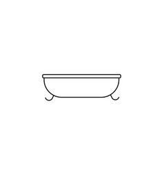 bath line icon on white background vector image