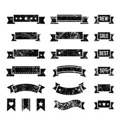 Retro ribbons vintage bookmarks set - vector image vector image