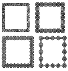 Set of black frame vector image vector image
