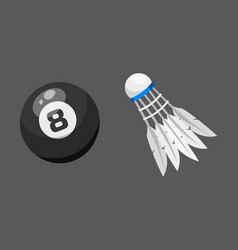 sport balls isolated tournament win round vector image