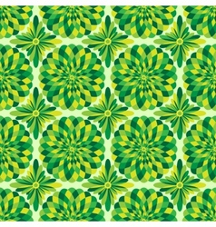 abstract seamless green pattern vector image vector image