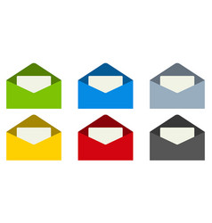 email mail envelope with letter inside set vector image