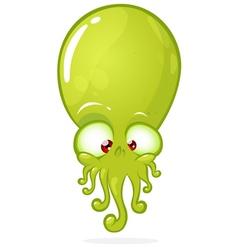 Happy Halloween cartoon green monster vector image