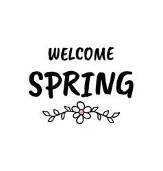 hello spring cartoon sketch vector image vector image