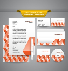 Stationery Template Zigzag vector image vector image