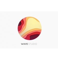 Wave logo Business Icon Color logo Company logo vector image