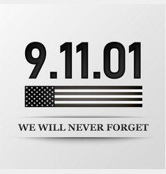 11 september patriot day we will never forget vector