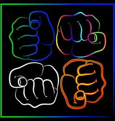 Abstract fist vector