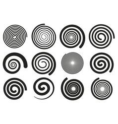 abstract spirals vortex swirl motion elements vector image