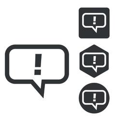 Answer message icon set monochrome vector image