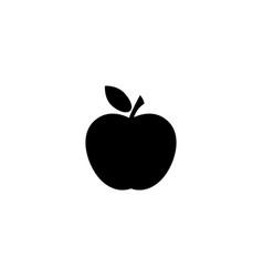 apple icon in black vector image